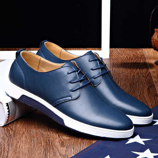 luxury leather shoes for man in oxford style