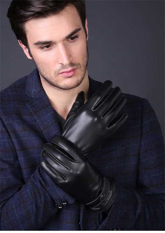 luxury men gloves in high quality genuine leather