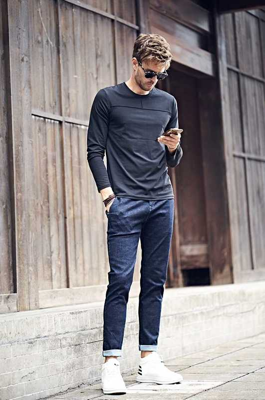 slim straight fashion jeans in casual style