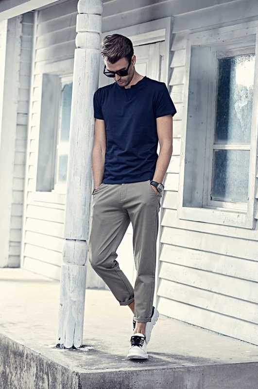 straight pencil trousers in casual fashion style
