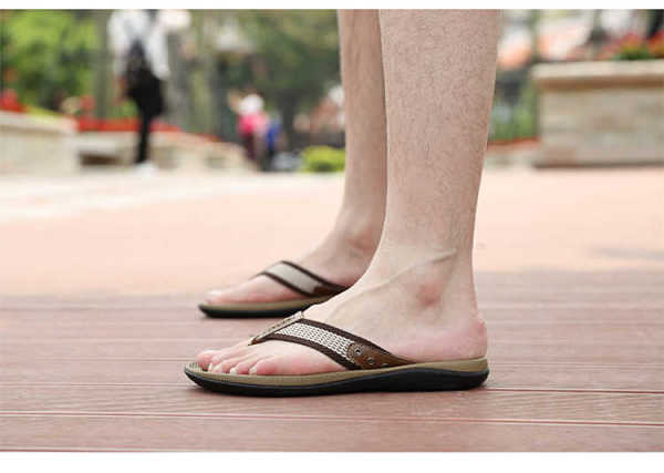 men slippers with quality genuine leather