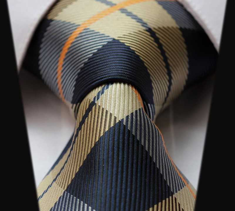 silk necktie with paisley check dot in classic style