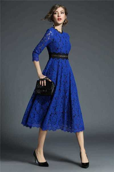floral lace dresses for woman in slim style