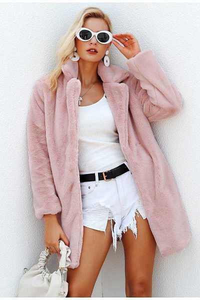c99815abe131e teddy plush coat in elegant style for women