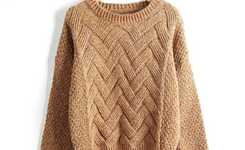 Knitted pullover in casual style outfits for women