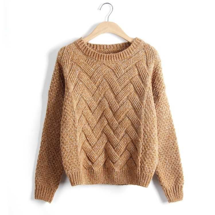 knitted pullover in casual style for women 19