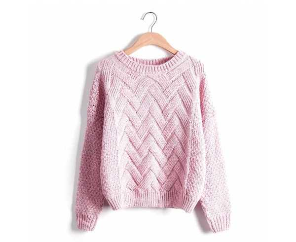 knitted pullover in casual style for women 14
