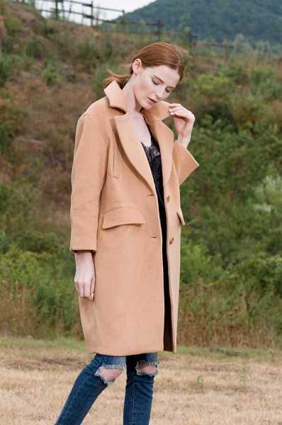long blended coat for women 16
