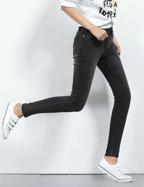 skinny jeans in black with stretch for women
