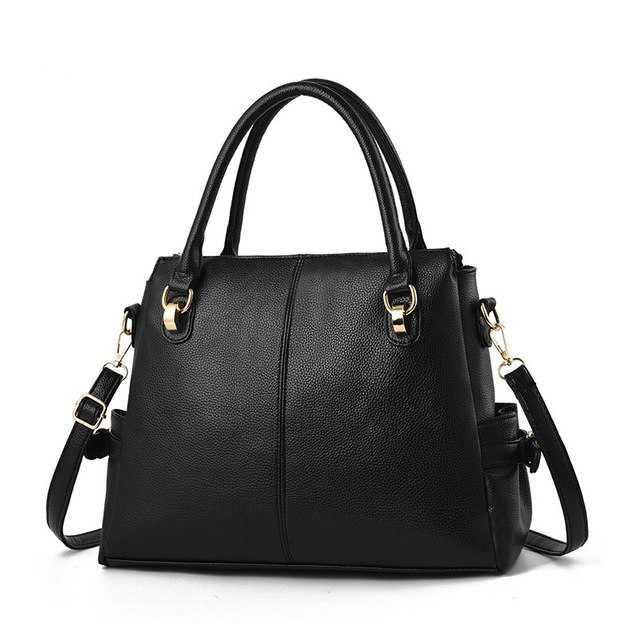 womens leather handbag in trendy fashion