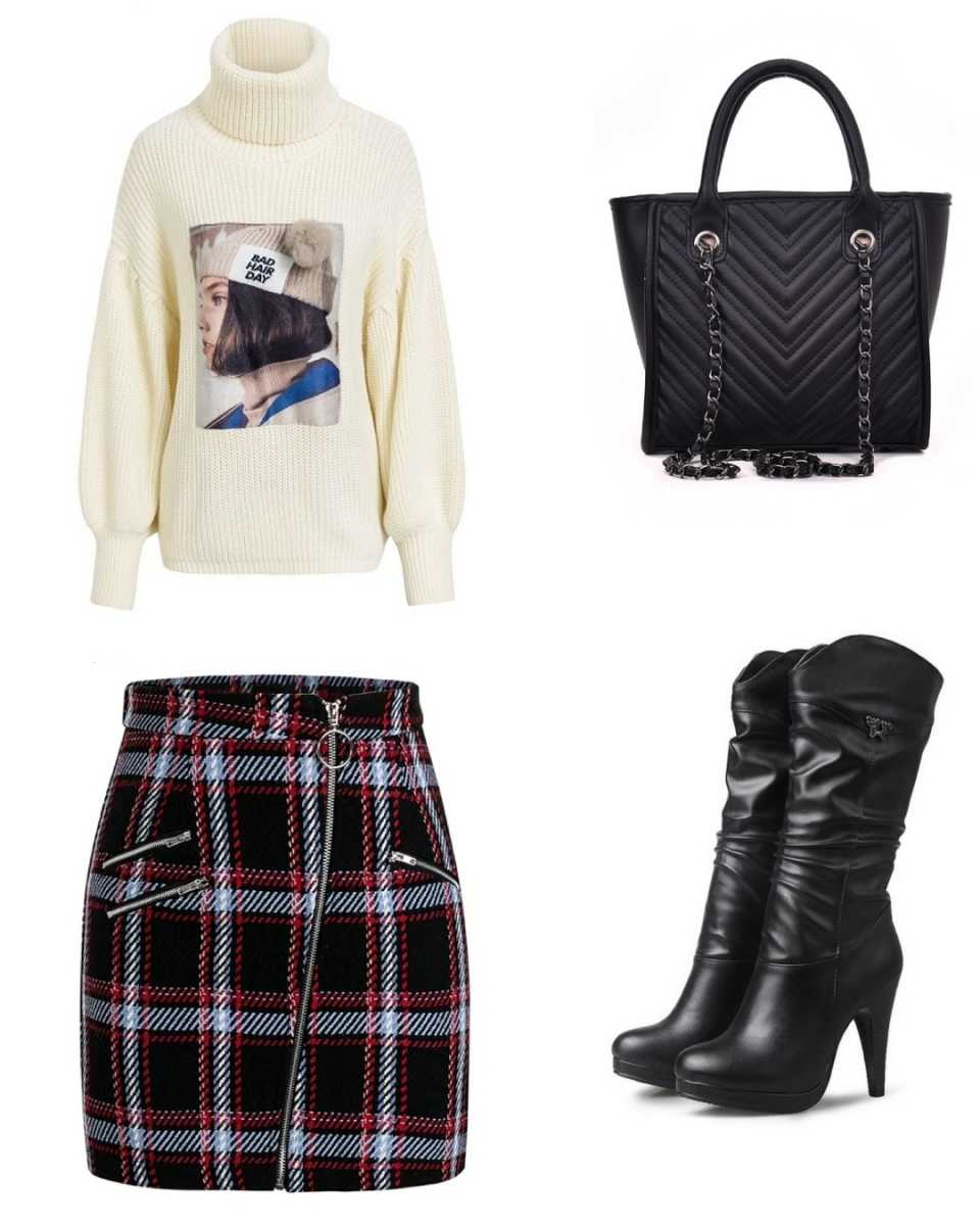 6cbc063e8cf3a Outfit with mid calf boots
