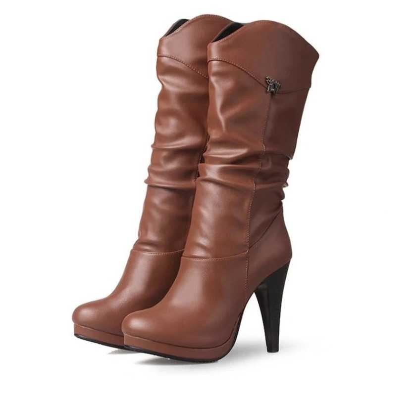 boots in mid calf for women