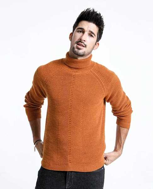 knitted sweater with turtleneck for men 12