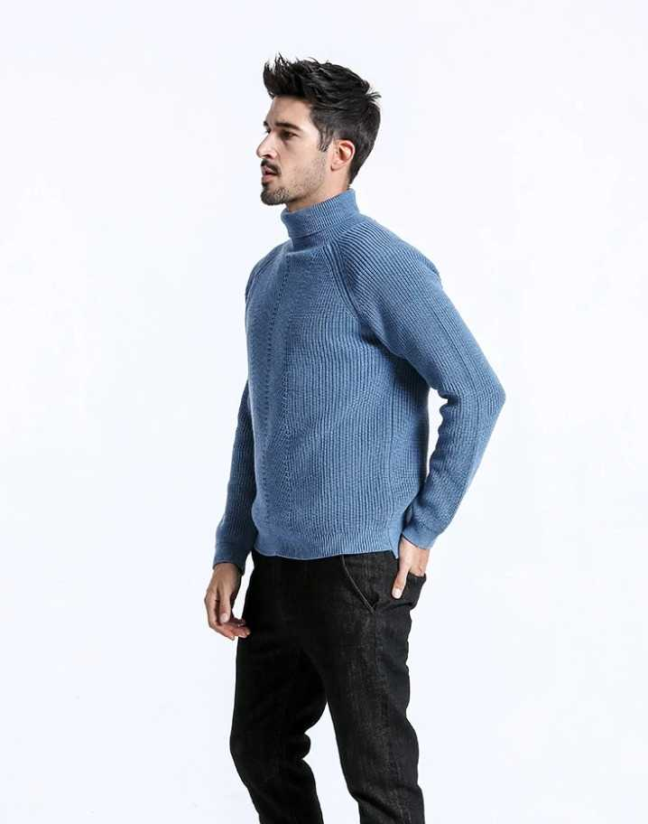 knitted sweater with turtleneck for men 15