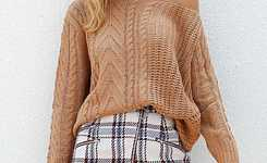 Looks with a checked tweed skirt