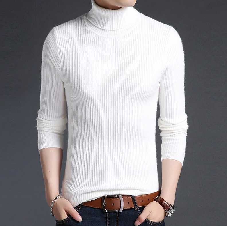 turtleneck pullover in casual style for men 12
