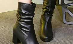Women outfits with mid calf boots