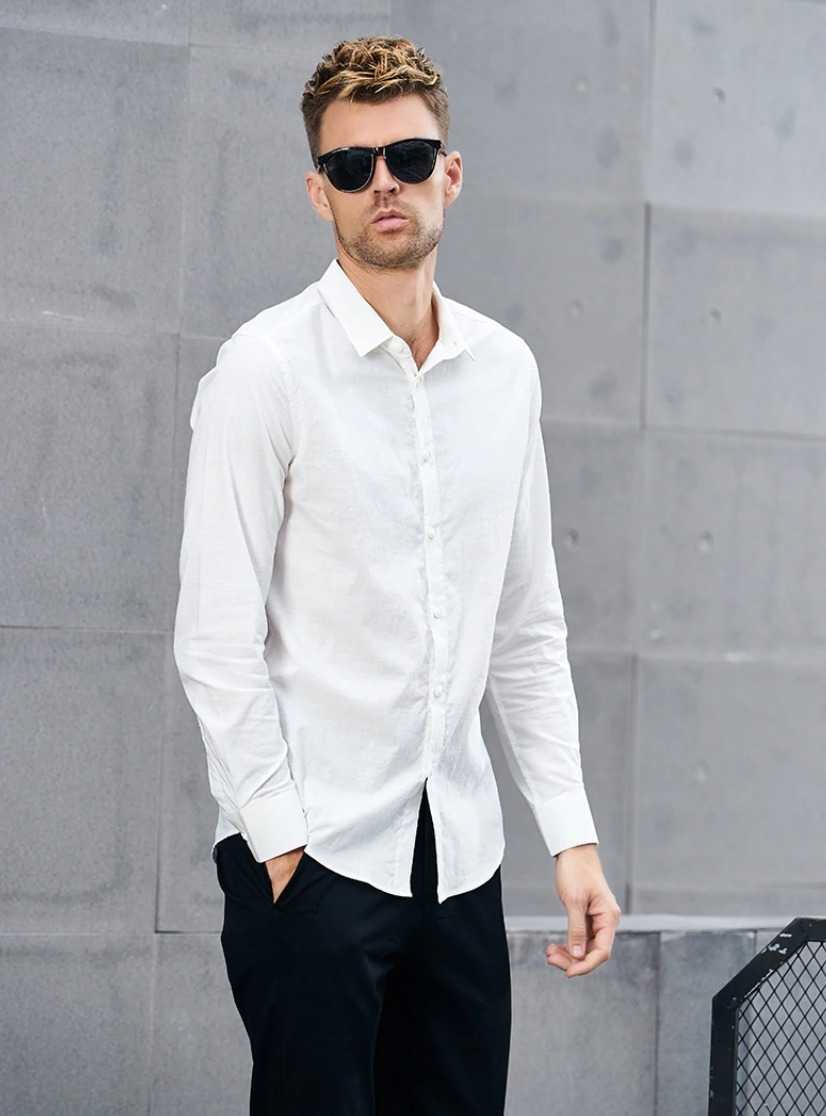 slim fit men shirt with long sleeves 21
