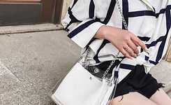 Women outfits with transparent shoulder bag