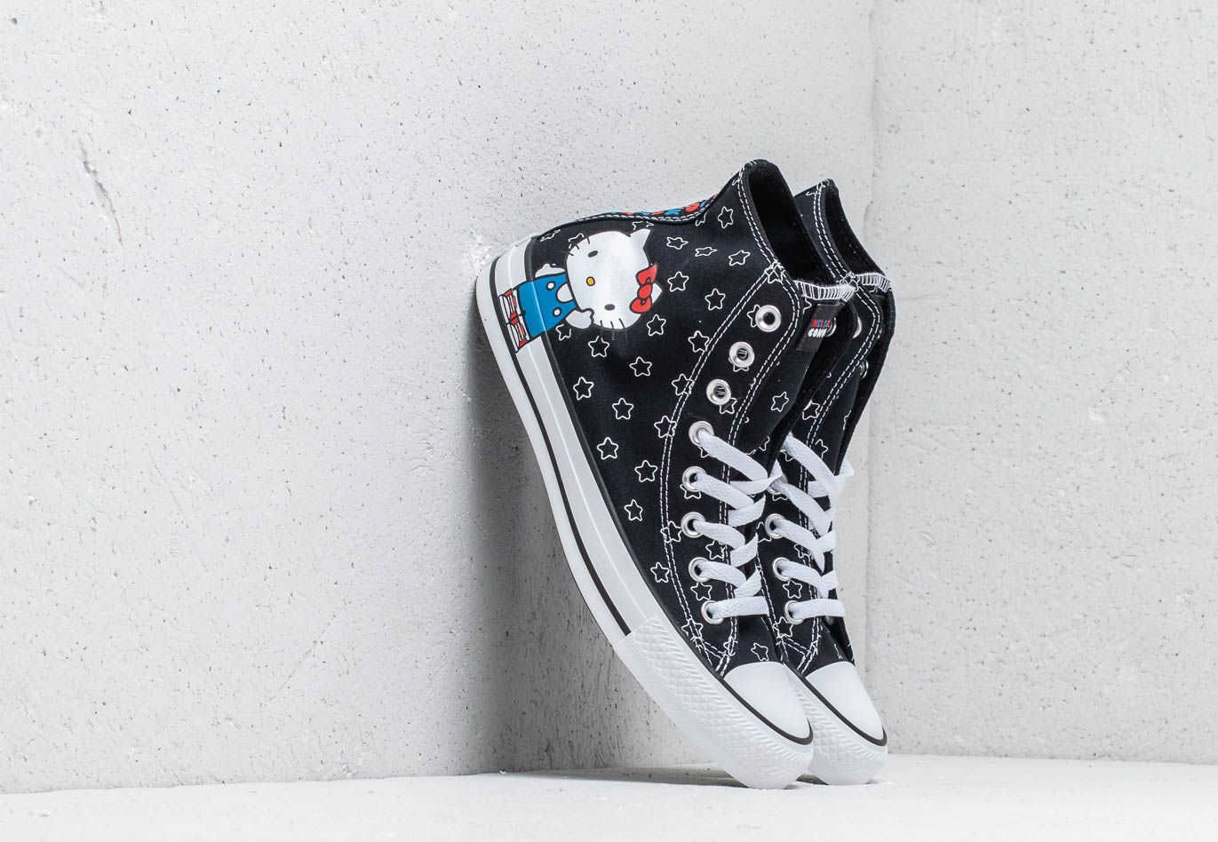 9ac70ce064 Converse x Hello Kitty Chuck Taylor All Star Hi Black/ White/ Directoire  Blue GOOFASH
