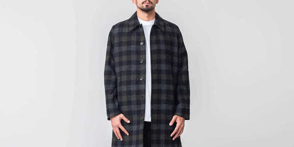 Norse Projects Thor Wool Check Coat Magnet Grey GOOFASH 32955_L