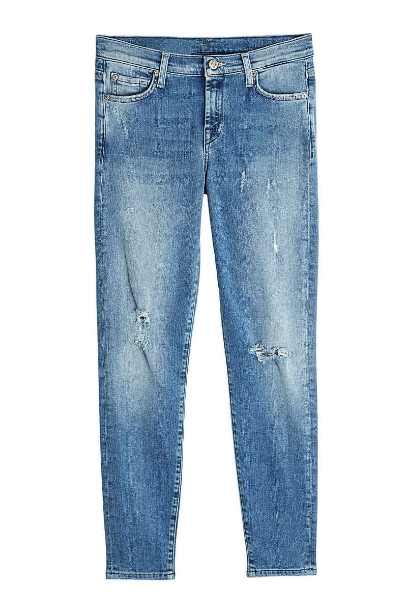 7 for all Mankind Distressed Skinny Jeans GOOFASH 264874