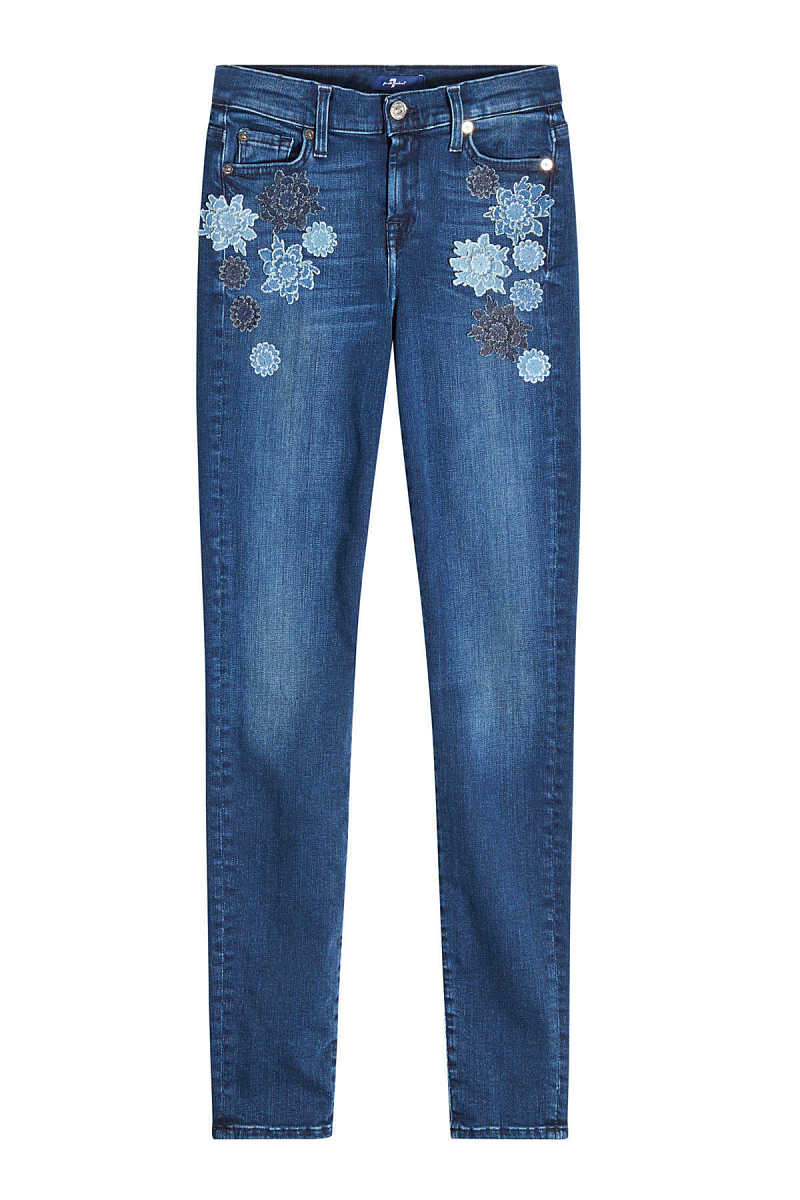 7 for all Mankind The Skinny Embroidered Jeans GOOFASH 283866