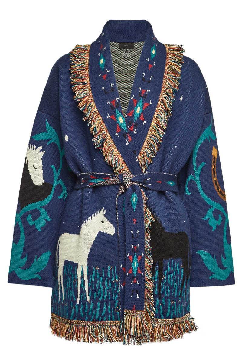 ALANUI Horses in Love Cashmere Cardigan with Belt GOOFASH 299011