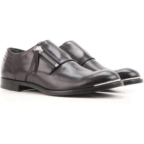 Alexander McQueen Monk Strap Shoes for Men On Sale in Outlet