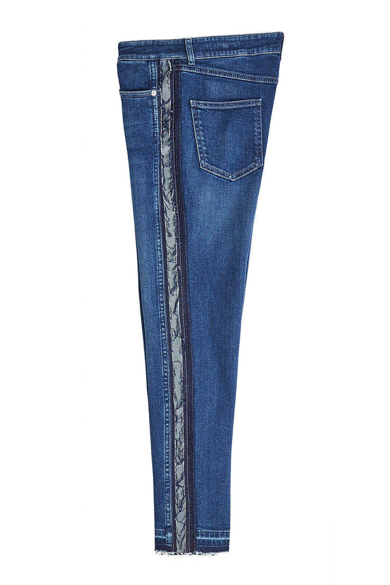 Alexander McQueen Skinny Jeans with Distressed Trims GOOFASH 278360