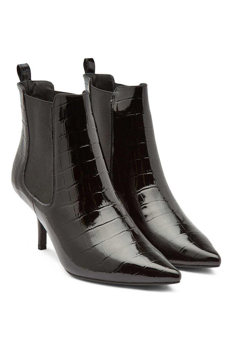 Anine Bing Stevie Patent Leather Ankle Boots GOOFASH 297683