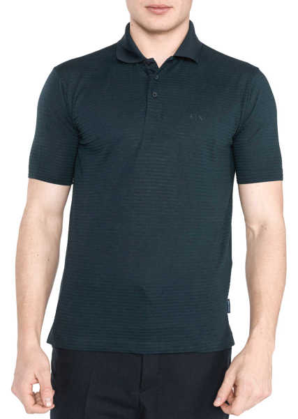 Armani Exchange Polo Shirt Blue GOOFASH 286406