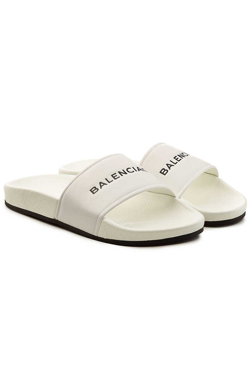 Balenciaga Leather Slides GOOFASH 283090