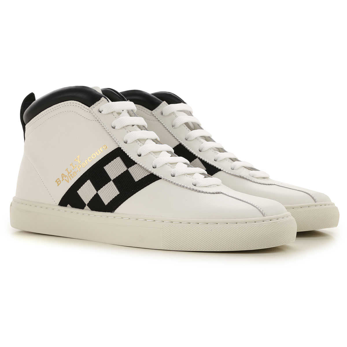 Bally Sneakers for Men, White, Leather