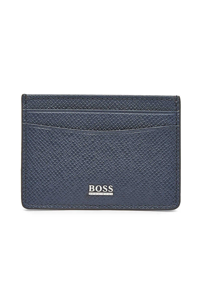 Boss Leather Signature Card Holder GOOFASH 297755