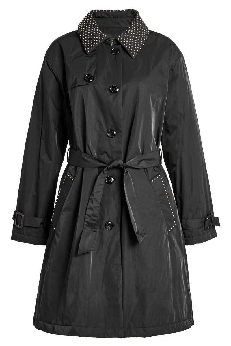 Boutique Moschino Belted Trench Coat GOOFASH 271446