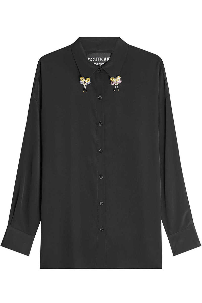 Boutique Moschino Embellished Blouse with Silk GOOFASH 275918