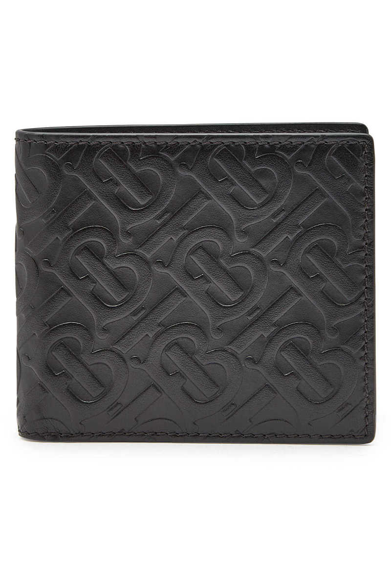 Burberry Embossed Leather Wallet GOOFASH 300247