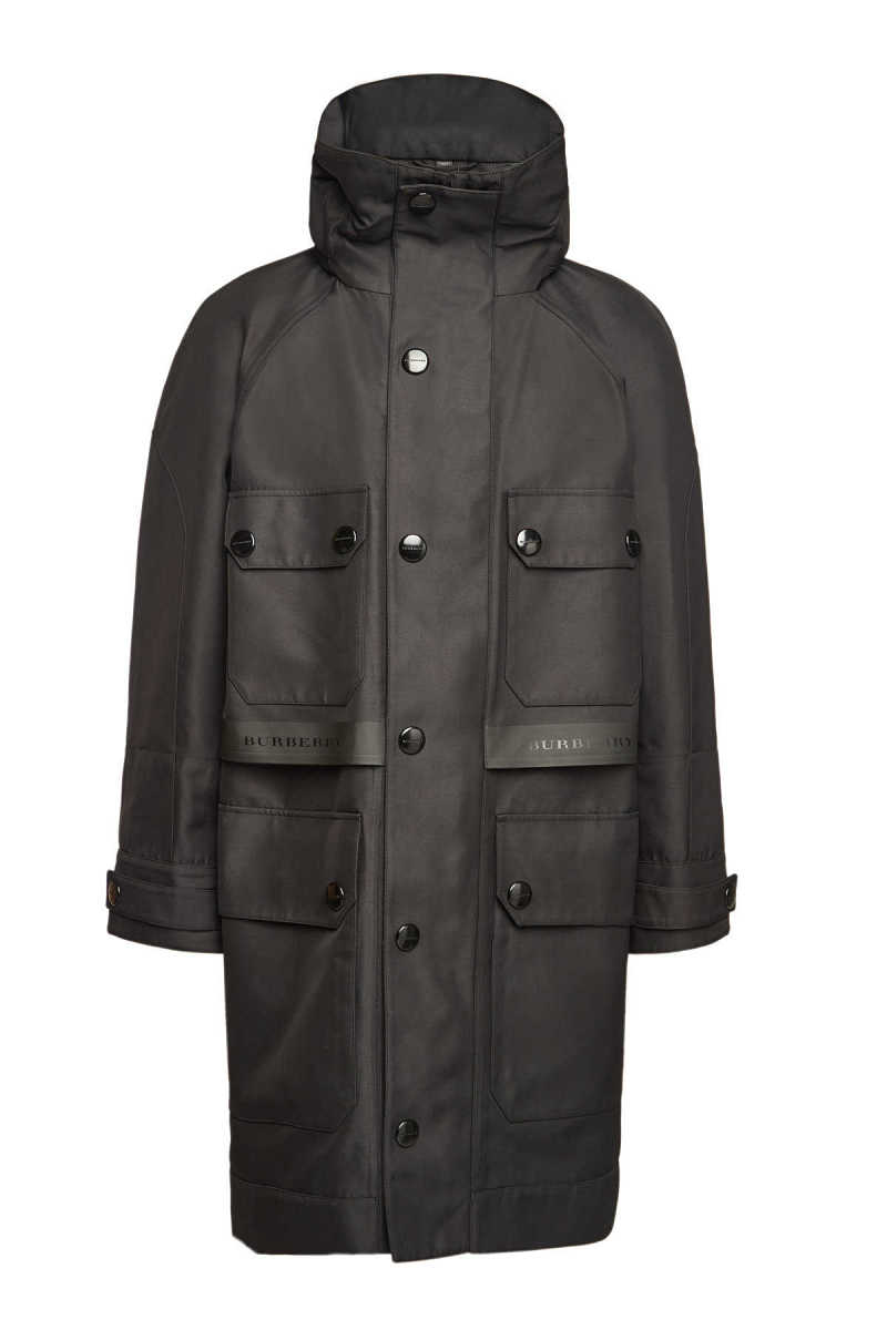 Burberry Outdoor Coat with Cotton GOOFASH 294312