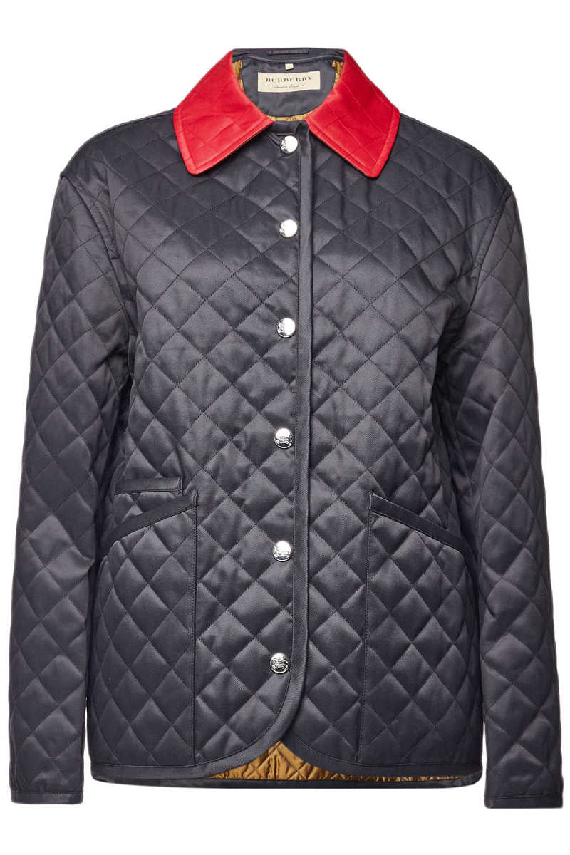 Burberry Quilted Jacket with Cotton GOOFASH 295012