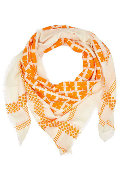By Malene Birger Wool Scarf with Print GOOFASH 300412