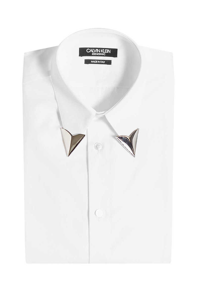 CALVIN KLEIN 205W39NYC Cotton Shirt with Collar Tips GOOFASH 280076