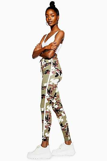 Camouflage Joggers - Lavender - Topshop - GOOFASH - 602019001299685