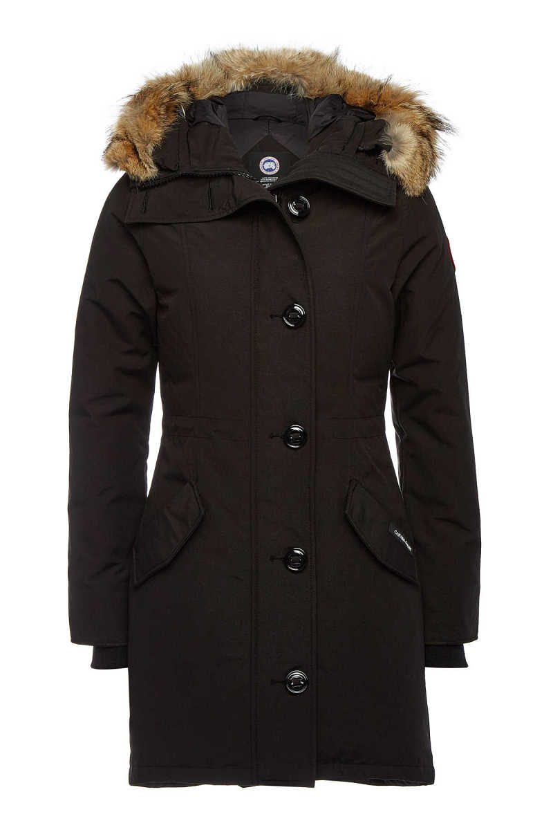 Canada Goose Rossclair Down Parka with Fur-Trimmed Hood GOOFASH 294250