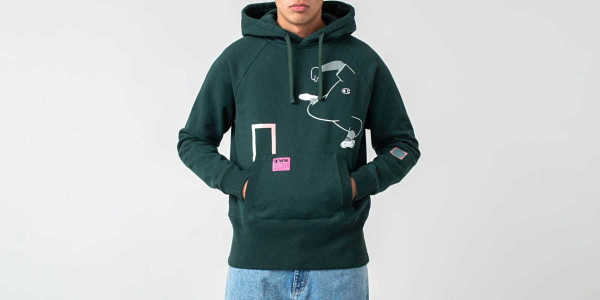 8d490361a32f6 Champion x WOOD WOOD Ed Reverse Weave Hoodie Green GOOFASH 212657 GS542 PNV