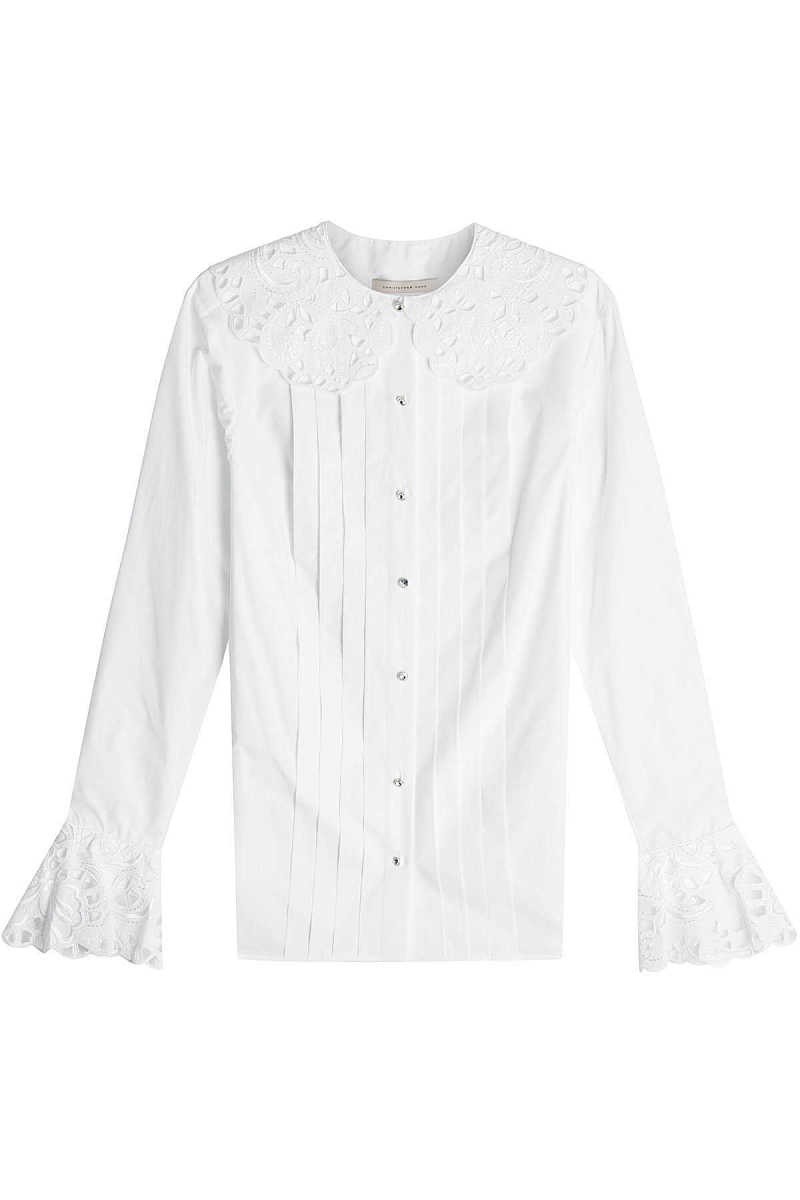Christopher Kane Cotton Blouse with Embroidery GOOFASH 286675