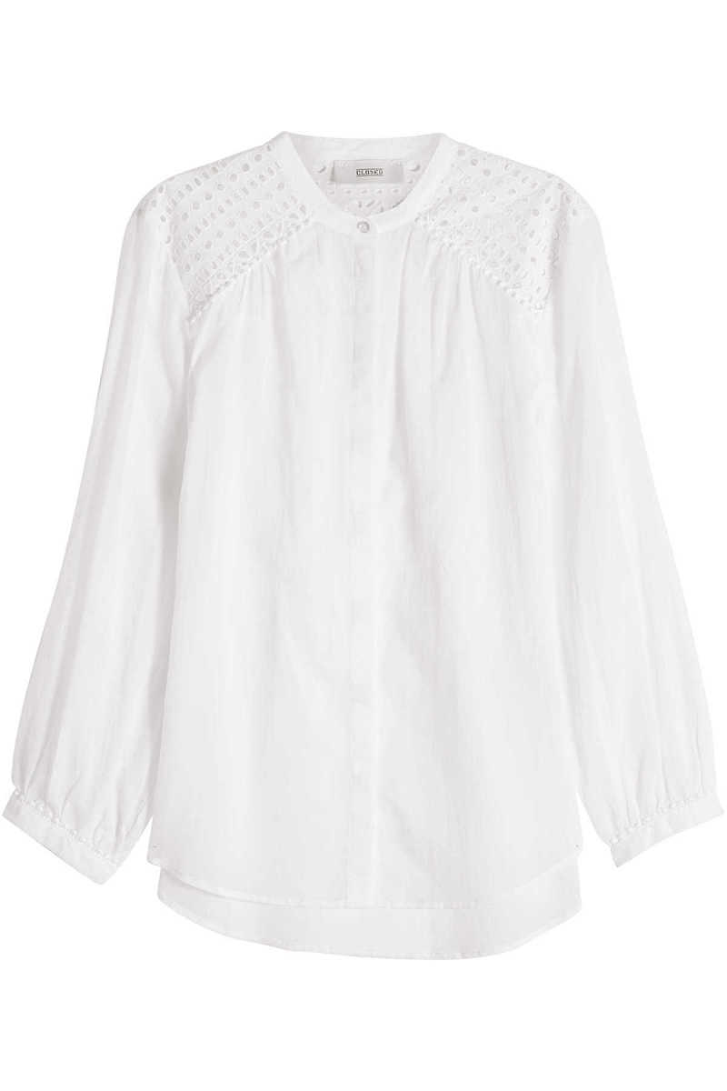 Closed Cotton Blouse with Cut-Out Detail GOOFASH 262417
