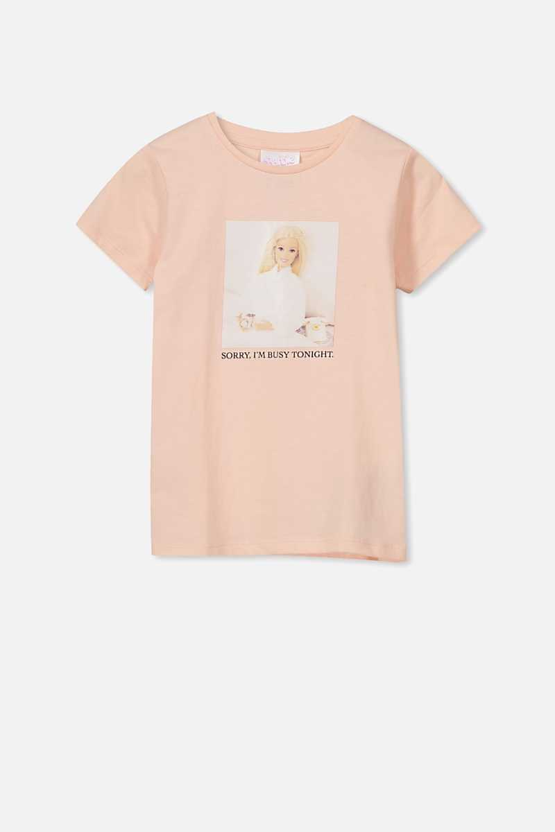 Cotton On Kids - Barbie T Shirt - Lcn mat/crystal pink/busy barbie/max - Cotton On - GOOFASH
