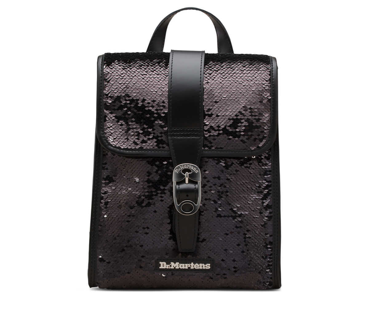 Dr Martens - Mini leather backpack with sequins - GOOFASH