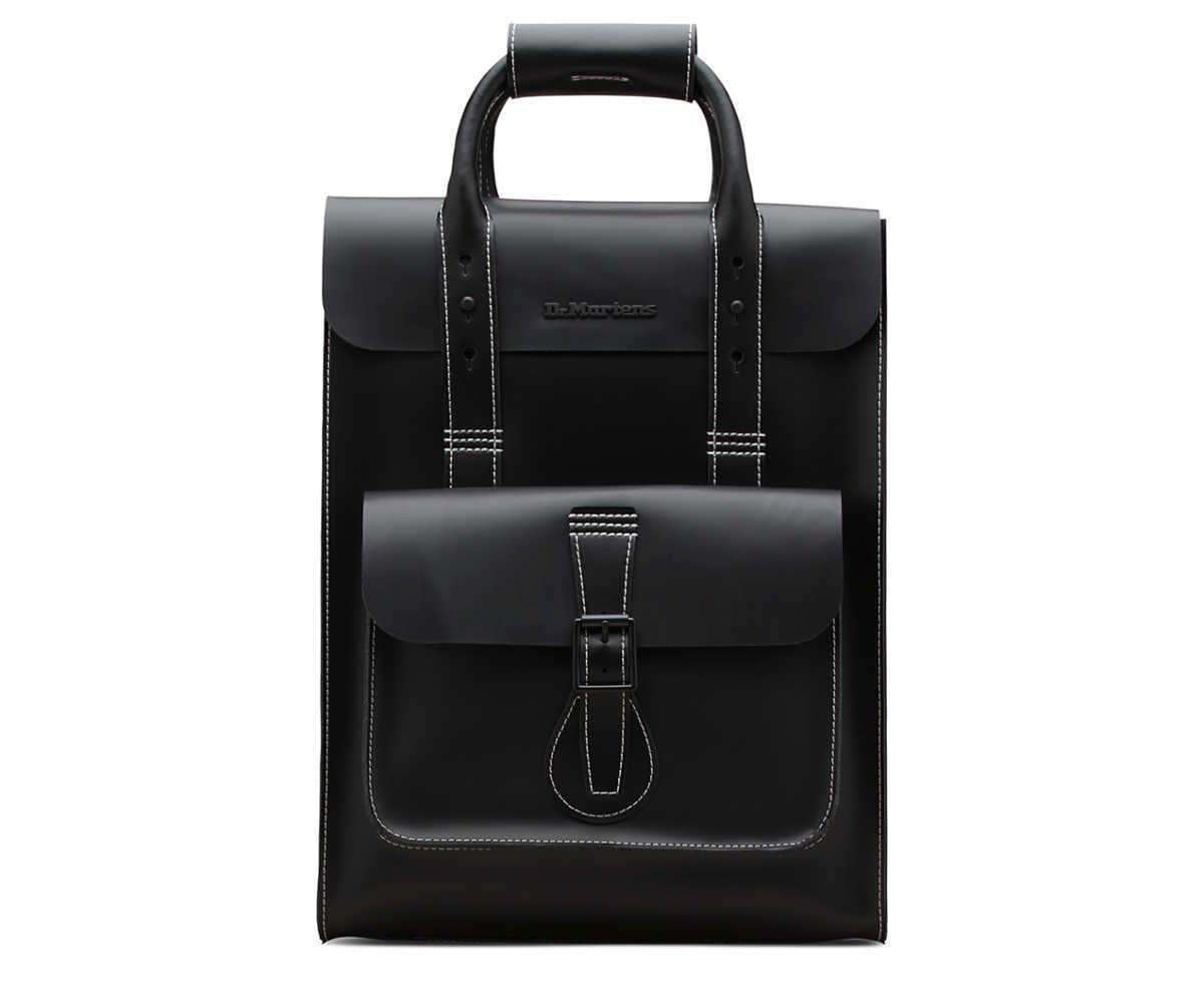 Dr Martens - Small Smooth Leather Backpack - GOOFASH